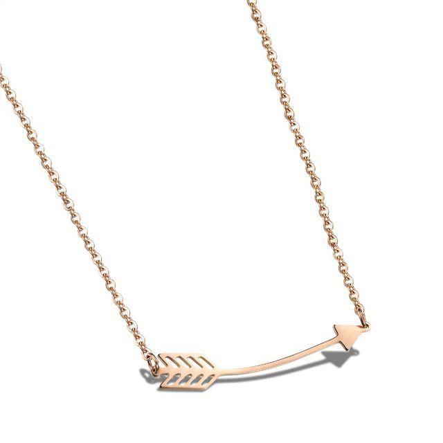 Розового золота ожерелья для женщин из нержавеющей стали ожерелье ювелирные изделия женщины ожерелье ювелирных изделий GX1032
