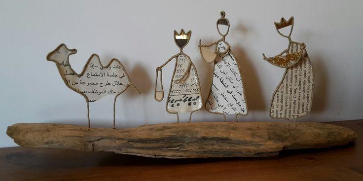 Die Heiligen Drei Könige 15cm x 40cm    Schon im Sommer habe ich bei meinen Standup Paddel Touren am Chiemsee fleissig Schwemmholz g... (Super Cool Crafts)