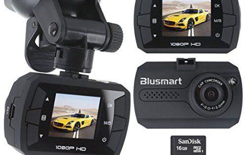 Blusmart Caméra de, Dash Cam Caméscope Enregistreurs DVR Vidéo de Voiture avec 120° HD 1080P, Accéléromètre Capteur-G Vision Nocturne…