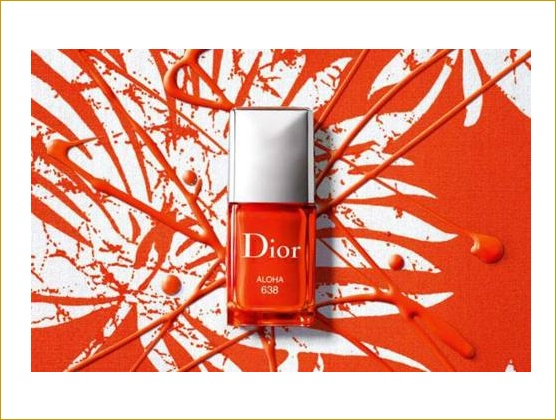 Dior Orange Nail Paint.
