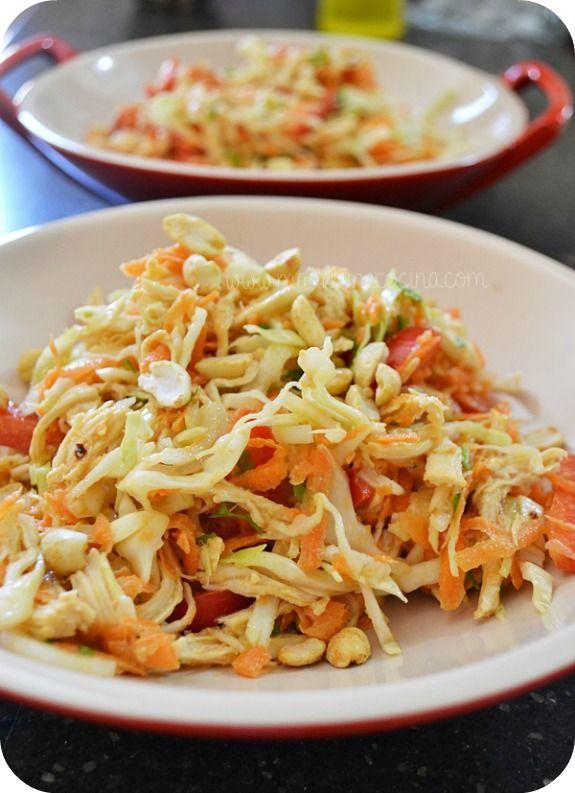 5 recetas de ensaladas veraniegas. Ensalada de pollo estilo thai
