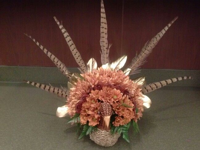 Best turkey floral centerpiece images on pinterest
