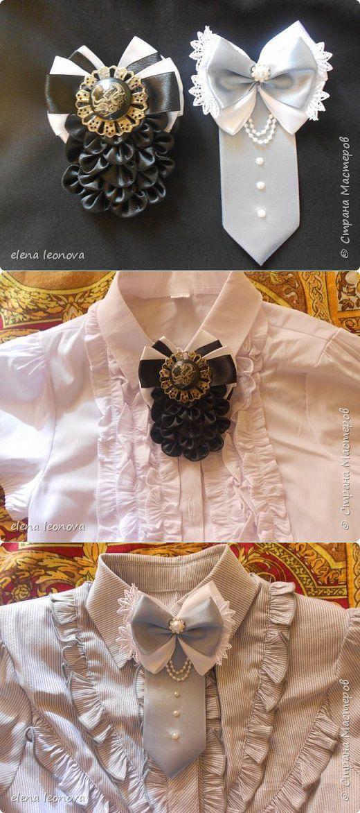 Брошь-жабо и брошь-галстук -делаем модные школьные украшения сами | Страна Мастеров
