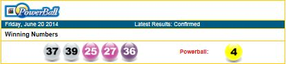 The South African Powerball Lottery results for 20/06/14, next estimated jackpot is standing at R44 000 000.00 (24/06/14). South Africans can play international lotteries such as USA Powerball, MegaMillions and much more with playlottoworld, multiply your chances for massive amounts of money. Make your dreams come true with playlottoworld.com. Get your tickets today.