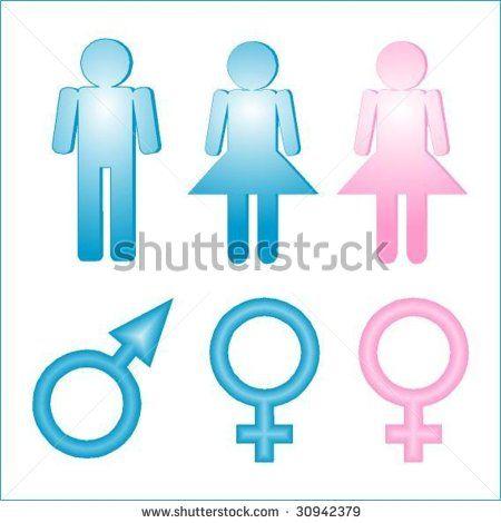 stock vector : Symbols male female