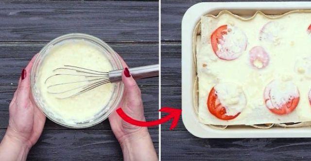 Когда остается немного лаваша, все умоляют приготовить этот пирог! Делюсь рецептом!
