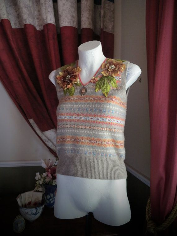 For The Fairest Of Them All - OOAK Re-imagined Ralph Lauren Fair Isle Vest