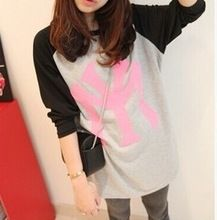 high quality ladies` long raglan sleeve contrast color t shirt  best buy follow this link http://shopingayo.space