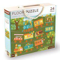 Podlahové puzzle - Petitcollage - Počítání s vláčkem - 24 dílů
