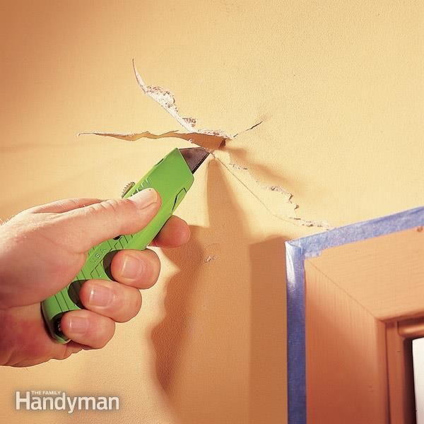 Eventually even the best-built houses develop a few cracks due to settling, usually around doors and windows. Learn how to fix them the right way, so they don't come back.