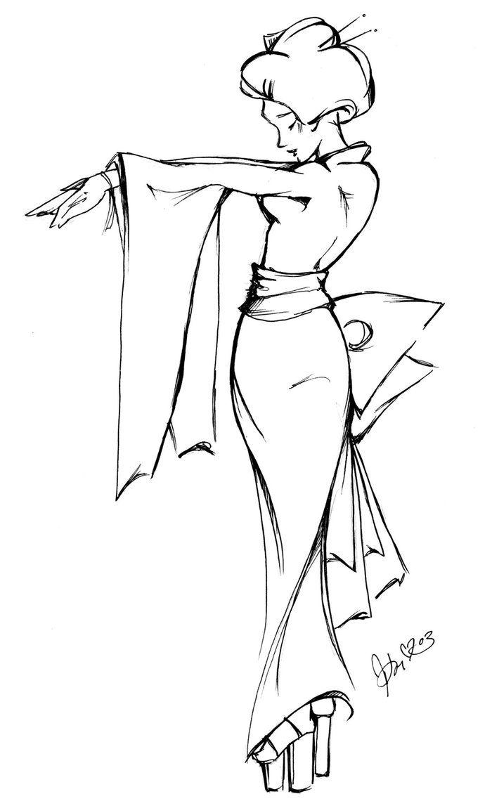 Geisha Pose - x1 by astrokitten