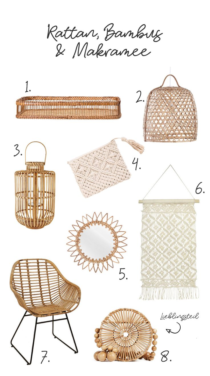 Rattan, bamboo & macrame - natural materials for the home