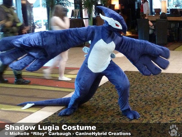 Construction of this costume with detailed pictures every step of the way. Very detailed.  Shadow Lugia Costume -2010 by CanineHybrid, via Flickr