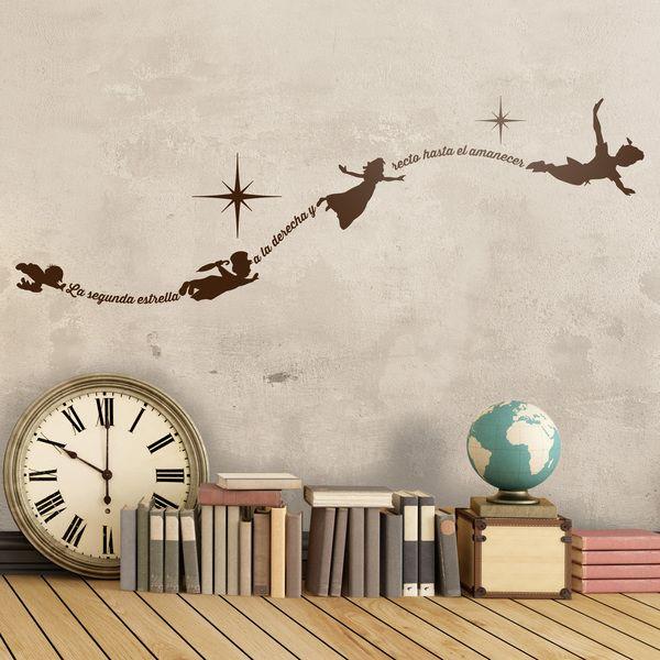 Vinilos Infantiles: Vinilo infantil tipográfico de Peter Pan Español