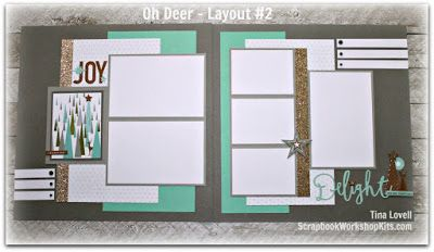 Scrapbooking Kits: Oh Deer 8 Page Christmas Scrapbook Kit - SOLD OUT