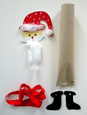weihnachten basteln nikolaus kuechenpapierrolle materialbedarf basteln mit kindern pinterest. Black Bedroom Furniture Sets. Home Design Ideas