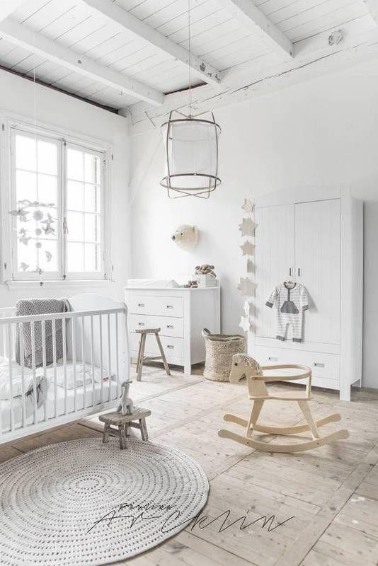 farmhouse interior white nursery design  Love this floor!
