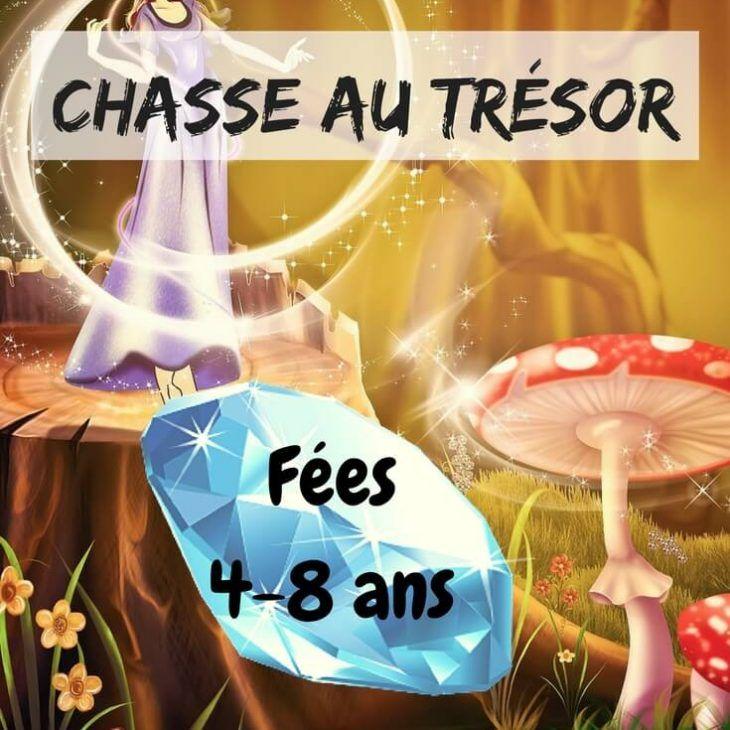 Chasse au trésor, thème fées, niveau facile de 3 à 8 ans