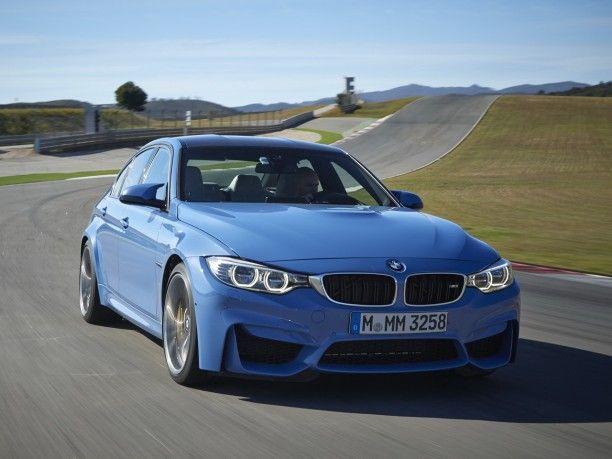Photo de la nouvelle BMW M3 sur le circuit de Portimao au Portugal (2014)