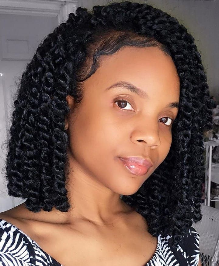 Bob Passion Twist Twist Hairstyles Curly Crochet Hair Styles Short Box Braids Hairstyles