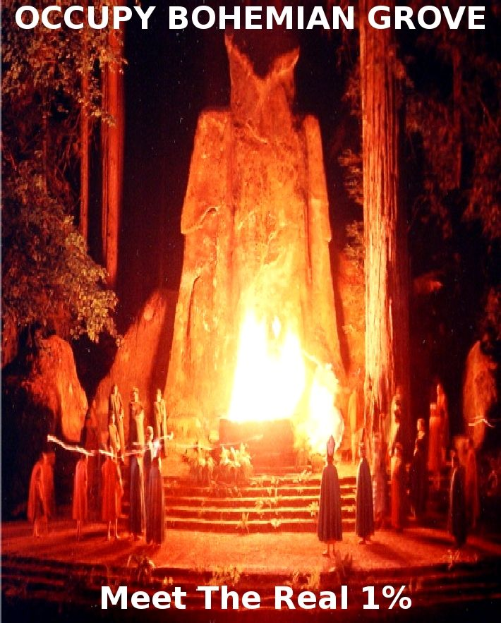 Dark Secrets: Inside the Bohemian Grove - Stag. They worship and do evil rituals for Lucifer through the ancient owl idol Baal Worship (Canaanites) Children were placed into Baal's arms (alive) and burned in the fire. Drums were played to drown out the screams of parents. This is where the idea of torture and death by fire originated (actually with Nimrod). Such a thing never entered Jehovah's mind or heart. Jeremiah 19:5
