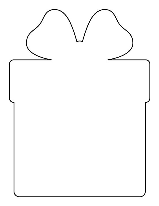 Christmas present pattern. Use the printable outline for crafts, creating stencils, scrapbooking, and more. Free PDF template to download and print at http://patternuniverse.com/download/christmas-present-pattern/