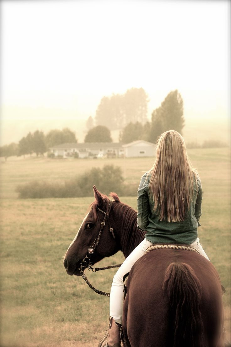 My kind of heaven where I can trail ride all day someplace beautiful. That's where I feel free