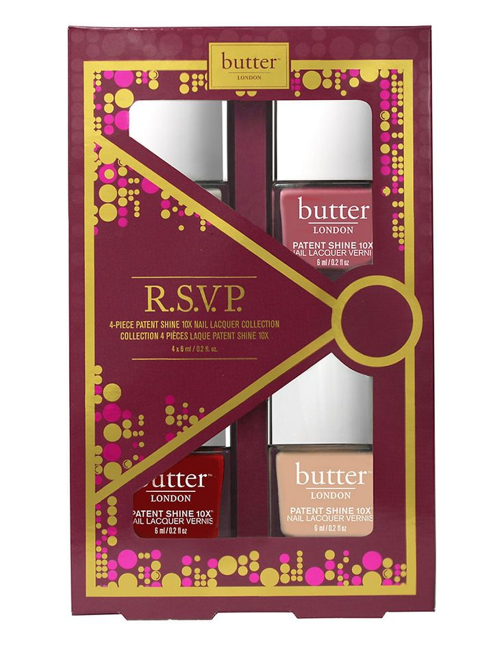butter LONDON Invite Only set 2015, RSVP Patent Shine 10X Nail Lacquers