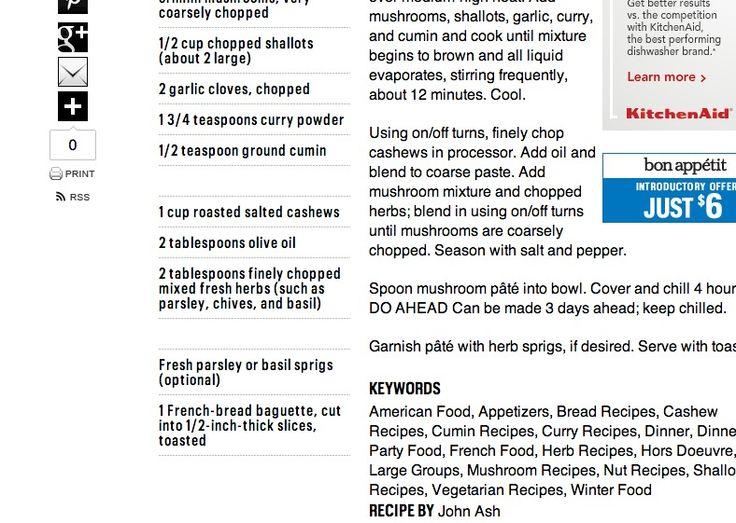 Easy mushroom pate recipe