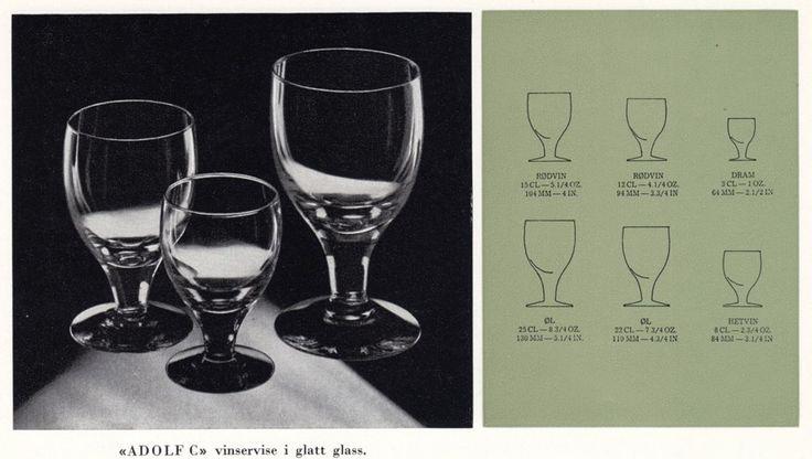 HADELAND GLASSVERK – PRODUKTKATALOG OVER VIN- OG GLASSERVISER – Mats Linder