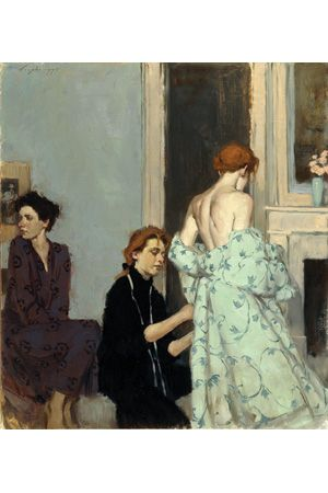 Oil Painting: Malcolm T. Liepke: The Emotional Connection in Figure Paintings - technique.  His paints comprise about a dozen manufacturers, with Grumbacher, Holbein, and Rembrandt dominating.