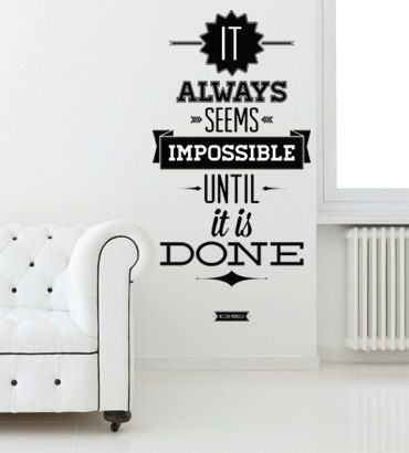 Mandela Quote Wall decal
