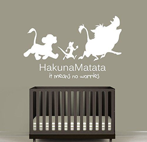 Wall Decal Vinyl Sticker Decals Art Decor Design Sign Quote Hakuna Matata Timon Pumba Kids Lion King Bedroom Dorm Nursery (R1239) CreativeWallDecals