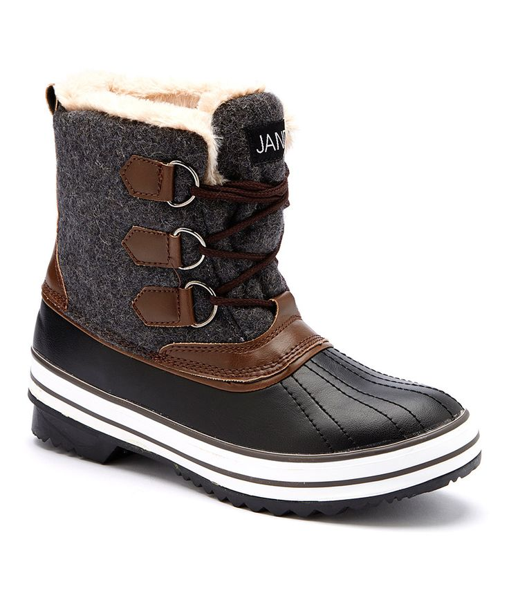 Another great find on #zulily! JANDS Gray & Brown Duck Boot by JANDS #zulilyfinds