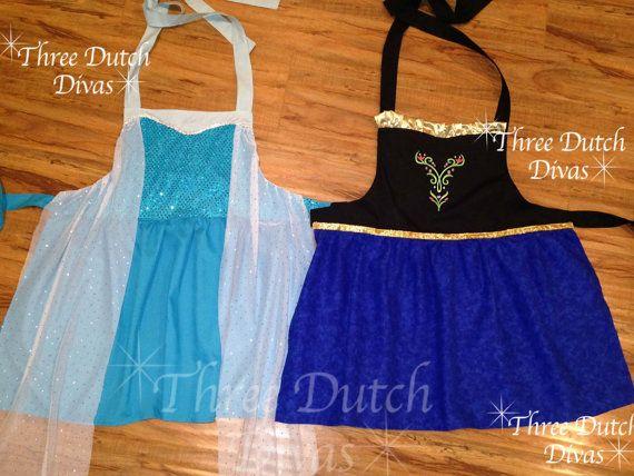 Frozen Anna Elsa inspired princess dress up by ThreeDutchDivas, $32.00