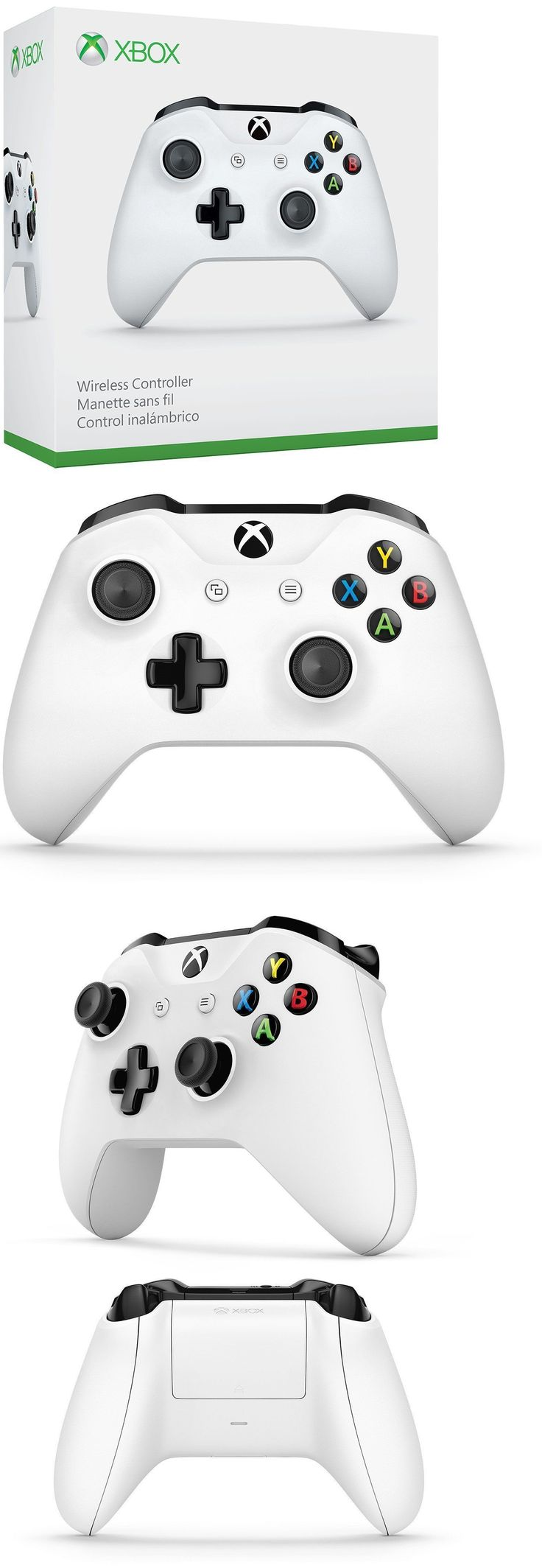 Video Gaming: Xbox One S Wireless Microsoft Controller Glacier White, Brand New W Bluetooth BUY IT NOW ONLY: $54.99