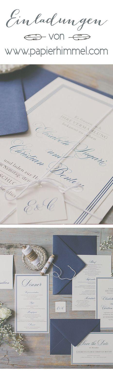 #hochzeitseinladungen von www.papierhimmel.com #einladungen, #hochzeit…