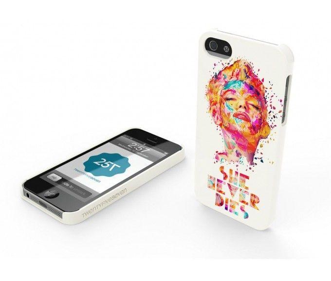 New TwentyfiveSeven Slim Hard Case WHITE in Limited Edition by Kaneda. #Marilyn #sheneverdies
