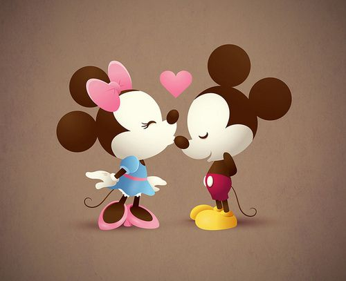 Mickey & Minnie - The Kiss | Flickr - Photo Sharing!