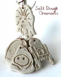 Star Wars salt dough ornaments -- now those are fun!