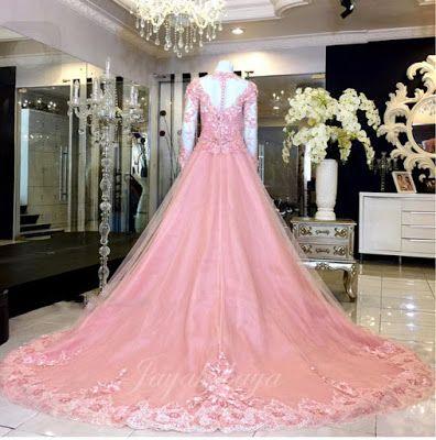 Wedding Kebaya Modern dress pink color 2016