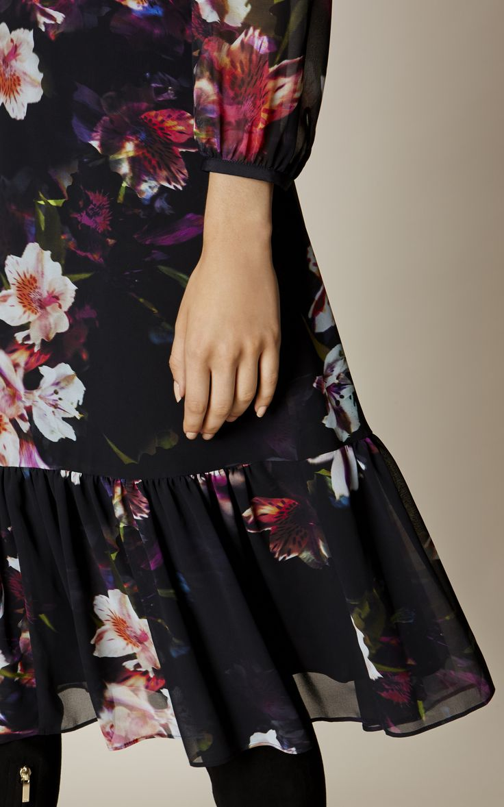 Karen Millen, GEORGETTE ORCHID DRESS Multicolour
