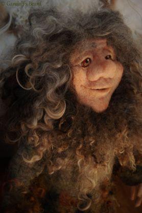 Needle Felted Dwarf by Monica Slavici of Gandalf's Beard on www.livingfelt.com/blog
