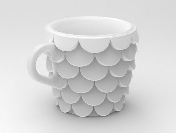 Fish scales 3D printed cup