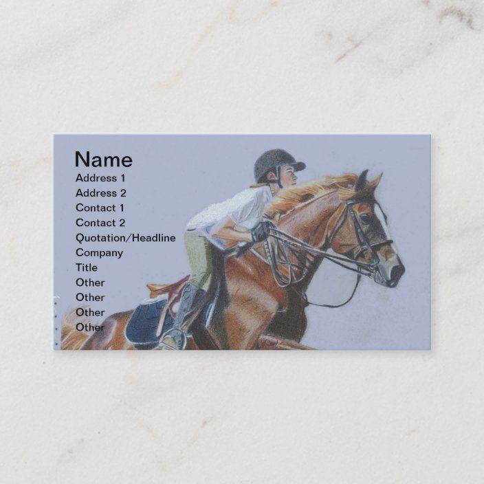 Hunter Jumper Horse Business Card Zazzle Com Hunter Jumper Horses Hunter Jumper Horses