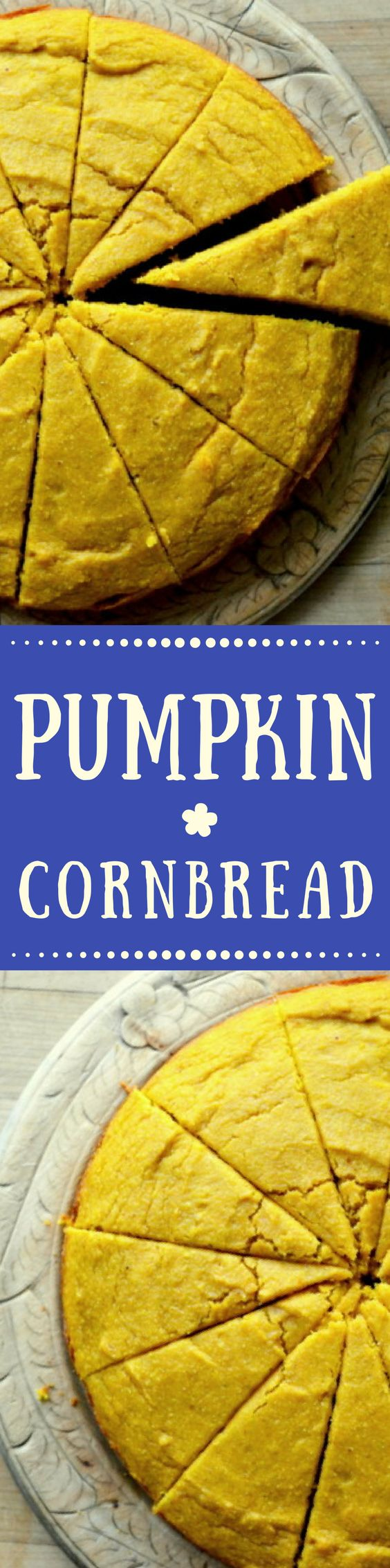 Pumpkin Cornbread is the ultimate Fall and Holiday side dish! ~ theviewfromgreatisland.com