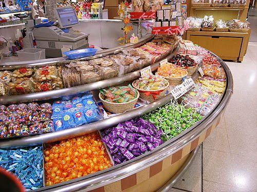 お菓子やキャンディーが回っているやつ デパート