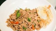 Minced Pork With Thai Basil Bangkok Style [pat Krapao Moo Sap] | Genius Kitchen