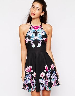Ginger Fizz Devotional High Neck Dress With Placement Print