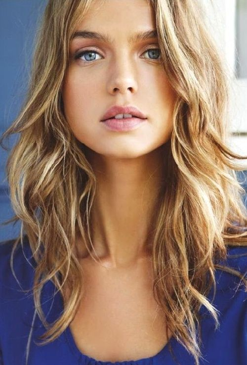 Tousled layered hair ... now this is a color I could get on board with!